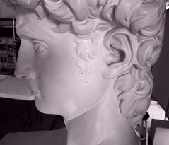 P2020186kjy (photos-by-sherm) Tags: michelangelo bust david replica cameron art museum wilmington nc pancoe center winter spotlight floodlights kissing