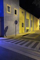 corner blues (jim_ATL) Tags: street night empty blue neon stop sign shadow windows keywest florida