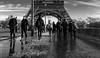 Dégel. Paris, fév 2018 (Bernard Pichon) Tags: paris îledefrance france fr bpi760 fr75 eiffel neige trottoir marcheur iéna pont