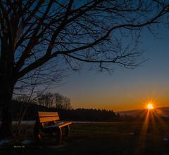 Wintersonne (achim-51) Tags: baum himmel blau sonne sonnenaufgang sunrise lumix panasonic dmcg5 bank winter