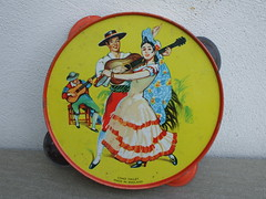 Vintage Chad Valley Flamenco Dancer  Tambourine 1950's Child Toy Made in England (beetle2001cybergreen) Tags: vintage chad valley flamenco dancer tambourine 1950s child toy made england