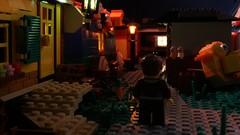 Evening Stroll (Legostudio01) Tags: lego legostudio01 amstudios steinerei2018 steinerei evening brickfilm lights leds moc trailers teaser outdoor bricks toys