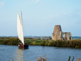 St. Benet's Abbey and yacht