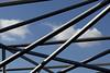 A Framed Sky (Giovanni Cappiello   f.64) Tags: city watermark concrete sky gray new aluminum smooth tubular blue napoli morning urban architecture buildings italia ita
