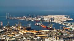 Dubai, United Arab Emirates: Dubai Maritime City port (nabobswims) Tags: ae containerport dubai hdr harbor harbour highdynamicrange ilce6000 lightroom maritimecity nabob nabobswims photomatix port sel18105g sonya6000 uae unitedarabemirates