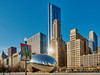 A bright skyline. (bkkay1) Tags: chicago cloudgate bean building architecture