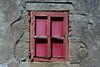 Red window in decay (Jan van der Wolf) Tags: map174390v red rood redrule window decay verval wall muur