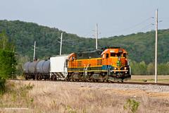 Local on the Main Line (tim_1522) Tags: railroad railfanning rail missouri mo cuba sub subdivision localfreight emd gp392 gp38 bnsf burlingtonnorthernsantafe