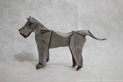 42/365 Great Dane by Chen Shu (origami_artist_diego) Tags: origami origamichallenge 365days 365origamichallenge dog greatdane doguealemão