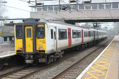 Abellio Greater Anglia . 317508 . Harlow Town Station , Essex . Wednesday 21st-February-2018 . (AndrewHA's) Tags: essex harlow town railway station train abellio greater anglia class 317 emu electric multiple unit 317508 2s20 stratford bishop's stortford lea valley line stopping passenger service brel york works