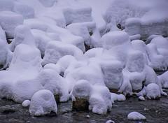 Snowy Rocks (bjorbrei) Tags: snow winter cold rocks water river stream shore akerselva oslo norway