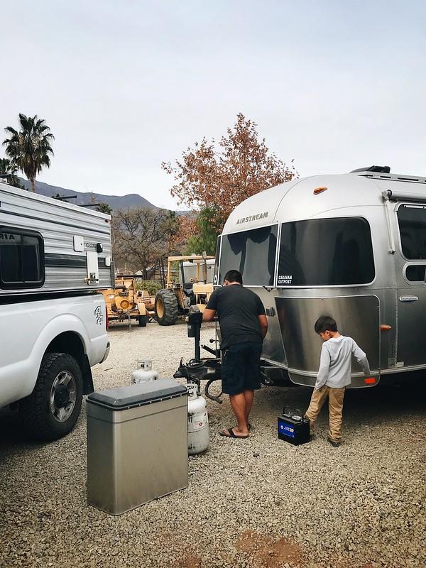 Our Airstream at Caravan Outpost. Ojai, California.