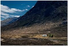 Glencoe (Hugh Stanton) Tags: mountain cottage remote stream trees appicoftheweek