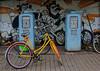 Vintage gas station (frankmh) Tags: petrolstation gasstation vintage bicycle art höganäs skåne sweden outdoor