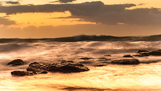 Sunrise Seascape with Big Surf