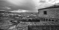 Il Forte di San Leo (DiegoGuidone) Tags: panorama rimini leo san forte il cielo albero legno strada edificio black white