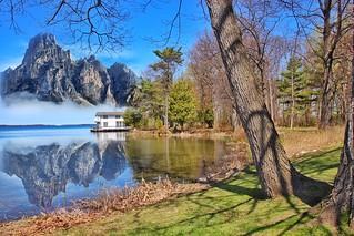 Orillia Ontario Canada ~ Leacock Museum ~ Boat House ~  Fantasy  Photo