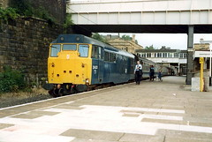 31433 @ Lancaster 1985. (Chris Firth of Wakey.) Tags: lancaster class31 31433