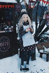 on the winter street VI (AzureFantoccini) Tags: bjd street christmas winter snow doll abjd balljointeddoll sd outdoor miniature diorama supia jiin chloe cafe