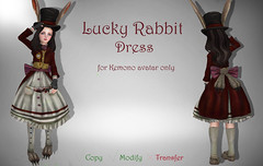Lucky Rabbit (donutelf2018) Tags: alice madness returns rabbit cosplay second life dress anime kawaii sl rp cute game