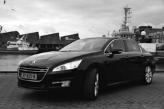 Peugeot 508-1 (gabrielgs) Tags: peugeot 508 peugeot508 car drive photography photoshoot vehicle luxurious 2012 auto scheveningen fotoshoot carshoot black francecar frenchcar france fifthgear