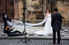 Love is in the air (dxd379) Tags: bride candid street photography nikon d7100 groom prague oldtown