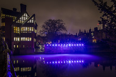 Women Writing History. (Tris1972 (tmorphewimages.co.uk)) Tags: eluminate cambridge 2018 thebacks trinityhall jerwoodlibrary university college universityofcambridge lights art installation winter night river rivercam bdp festival smooth reflections canon 5diii 24mm wideangle glow purple bright garrethostellane garrethostelbridge cambridgeshire eastanglia uk