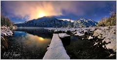 Almsee Mondlicht (Karl Glinsner) Tags: landschaft landscape österreich austria berge gebirge mountains see lake winter schnee snow mondlicht moonlight almsee almtal salzkammergut grünau oberösterreich upperaustria outdoors