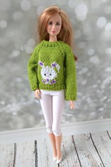 Handmade clothes for Barbie dolls - hand-knitted bright apple green sweater - white short leggings (uliakiev) Tags: barbie barbiedoll barbiedollclothes barbieclothes barbiesweater barbiecollector barbiecollection barbiefan barbiefashion barbieclothing barbiedolls barbiestyle barbiestream barbiecrochet barbieknit dollclothes dollsweater dollknitting