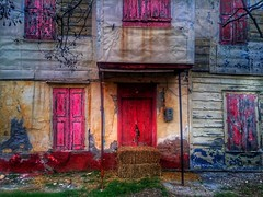 Multi colors architecture (panoskaralis) Tags: houses oldhouses house farm farmhouse colors colours red old iron nature abandoned building oldbuildings buildings lesbos lesvosisland lesvos mytilene greece greek hellas hellenic outdoor village