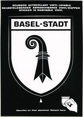 postcard + ephemera - Basel, Switzerland (Jassy-50) Tags: postcard ephemera sticker decal baselstadt basel basle switzerland