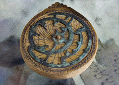 The Astrolabe (Steve Taylor (Photography)) Tags: astrolabe thepetriemuseumofegyptianarchaeology wooden design museum metal uk gb england greatbritain unitedkingdom london texture calculator ottoman markings