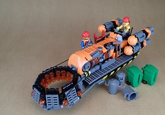 District 18 Public Works Trash Teleporter (Greeble_Scum) Tags: lego future city garbage truck vehicle speeder hover teleport cyber punk greeble recycle trash mini figure moc build creation