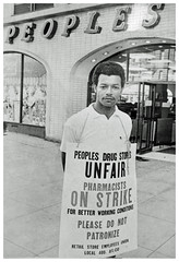 Pharmacists strike People's Drug Store: 1970 (washington_area_spark) Tags: retail store employees united food commercial workers union local 400 people's drug cvs 1970 washington dc strike picket boycott first contract forced overtime pharmacists pharmacy