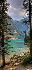 #A52 A Beautiful Spring Day (briolette001) Tags: morainelake canadianrockymountain mountains rockymountains canadarockymountains albertacanada alberta banffnationalpark banff