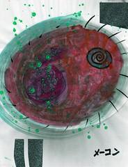 Glitterati Subconscious [1,001 Sobas with Senpai #739] (Marc-Anthony Macon) Tags: art dada dadaism dadaist dadaísmo outsiderart folkart rawart popart surrealism intuitiveart soba senpai japanesefood japanese noodles egg eggs