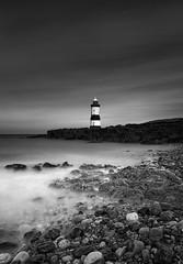 Beyond the Shore (TS446Photo) Tags: longexposure wales bbcwalesnature lighthouse monochrome mono noiretblanc blackandwhite bw black white sea seascape shore nikon nikkor zeiss