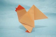 21/365 Rooster by Roman Diaz (origami_artist_diego) Tags: origami origamichallenge 365days 365origamichallenge rooster romandiaz