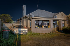 Untitled (Andrew_Dempster) Tags: night nightshot frontgarden australia nightlight frontyard washing southaustralia bin sa fordfalconxp urban suburbia nightphotography house shoppingtrolley home edwardstown nightscape ford washingline suburban au