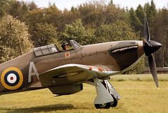 Hawker Hurricane (M McBey) Tags: hawker hurricane fighter aircraft raf ww2 battleofbritain nikkormat nikkor50mmf20ai