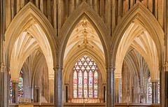Wells Cathedral beyond the chancel (archidave) Tags: wells cathedral gothic church medieval decorated architecture somerset vault