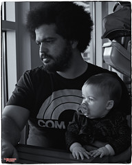 Father and Daughter (MBates Foto) Tags: ambientlight availablelight blackandwhite dad daughter existinglight father indoors monochrome nikkorlens nikon nikond810 people portrait resting sitting toddler waiting spokane washington unitedstates