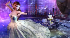 Enchantment - Beauty and the Beast (clau.dagger) Tags: enchantment beautyandthebeast secondlife fantasy fairytales event salt lessucreriesdefairy fashion gown decor ra insol catwa maitreya drd eve birdy lepoppycock