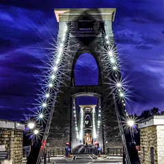 Even when all the lights shining on you, you can still be empty inside (Paul Wrights Reserved) Tags: longexposure bridge bristol clifton cliftonbridge lightburst empty emptyroad vanishingpoint clouds dramatic lights structure manmade suspension suspensionbridge old historic attraction stone metal saying moody emptyinside road landscape sky