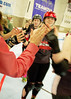 187 (Bawdy Czech) Tags: lcrd lava city roller dolls cinder kittens cherry bomb brawlers skate rollerskate bout bend oregon or february 2018 juniorderby juniors rollerderby lavacityrollerdolls