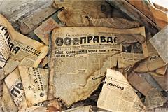 In a Pripyat School (Aad P.) Tags: chernobyl чорнобиль pripyat припять ukraine україна sovietunion cccp nuclearpowerplant radioactivity radiation urbex urbexphotography exclusionzone school library books newspaper pravda правда communistparty communistpartysnewspaper