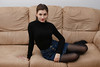 Dressed in black (piotr_szymanek) Tags: marcelina portrait studio sofa woman lady girl young skinny mini skirt hand eyesoncamera stockings legs earring earrings horny couch 1k 5k 20f 50f marcelinab 10k 100f 20k frock 150f 30k