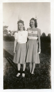Two Young Ladies Pose, 1940s