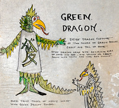 Green Dragon Costume Design (detail) (Madison Historical Society (CT-USA)) Tags: madisonhistoricalsociety madisonhistory mhs madison conn connecticut ct connecticutscenes country usa newengland nikon nikond600 d600 bobgundersen old historical history museum jitneyplayers woodlandgardenplays barntheatre theplaybarn interesting image outside outdoor exterior photo picture places people performer costume shoreline shot scene scenes bostonpostroad route1 flickr design art constancegrenellewilcox constancewilcoxpignatelli princess alicekeatingcheney