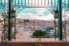 Medina of Fez (T is for traveler) Tags: travel traveler traveling tisfortraveler explore backpacker digitalnomad photography destination morocco fes fez medina old city sunset panoramic view terrace restaurant romantic canon 700d 1855mm